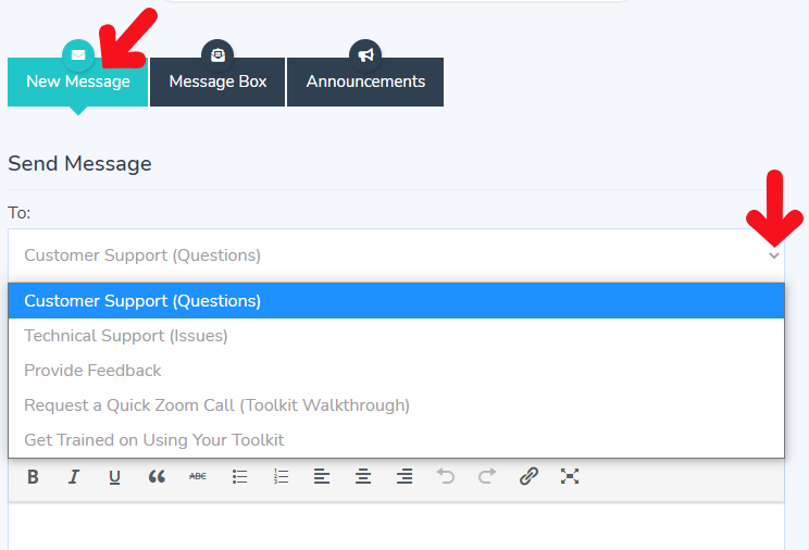 How to Send a Message in AGS Cloud's Mailbox