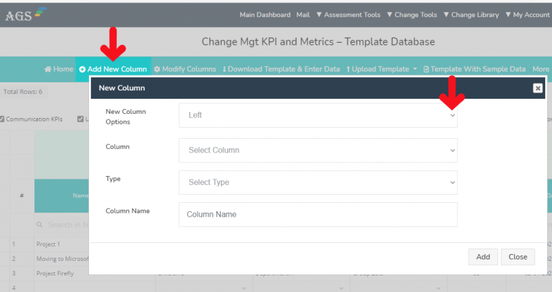 AGS Cloud - How to Add a New Column